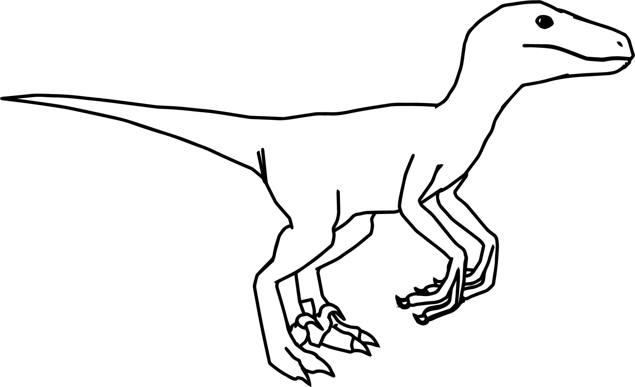 10 Coloring Page Velociraptor In 2020 Velociraptor Drawing Coloring Pages Blue Jurassic World