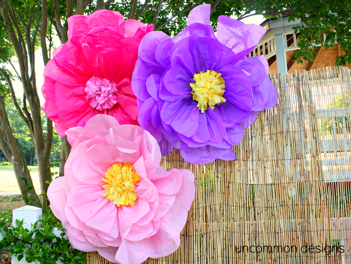 Make the coolest giant tissue paper flowers ever luau party how to make giant tissue paper flowers uncommon designs mightylinksfo