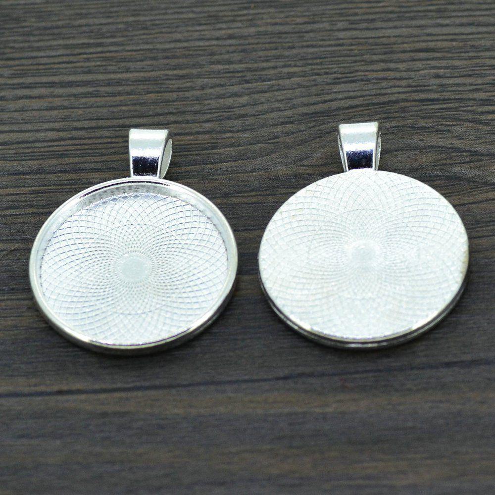 Tray Blanks Jewelry Bezel Cabochon 10pcs//set Pendants Oval Setting Necklace Base