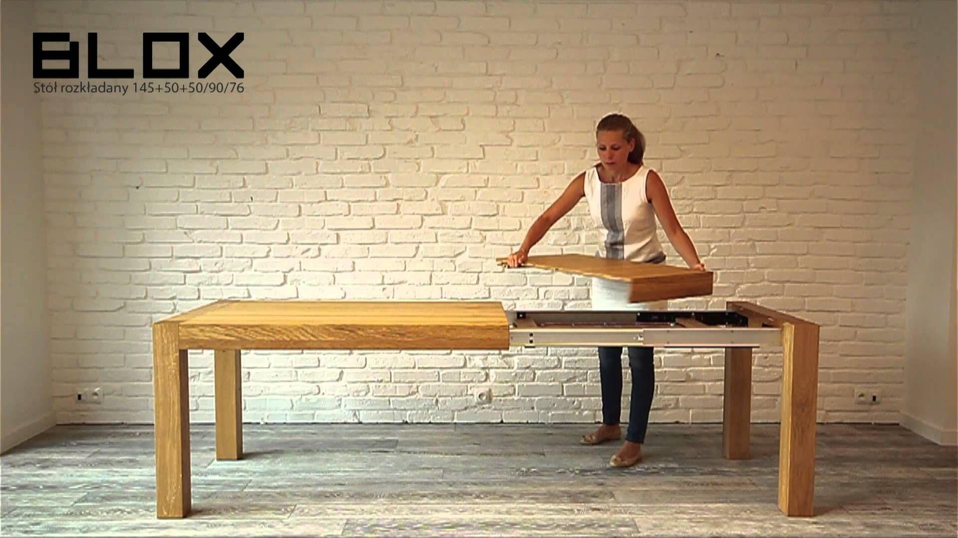 Miloni Stół Blox Drewniany Rozkładany Stół Do Kuchni
