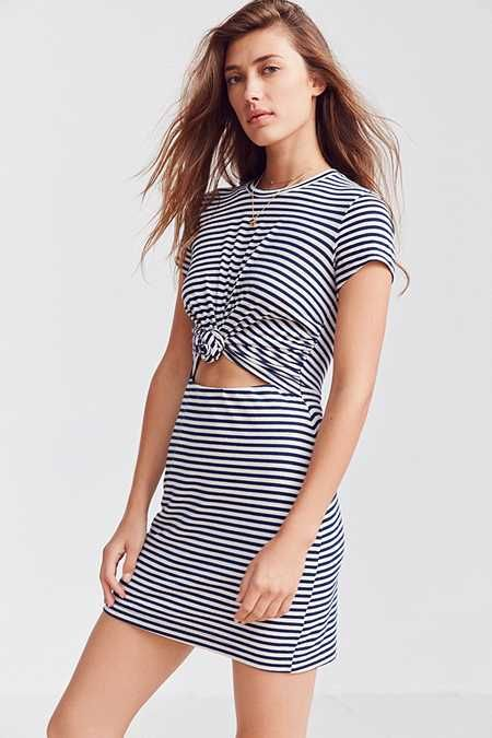 6823947c078 Silence + Noise Knotted T-Shirt Dress