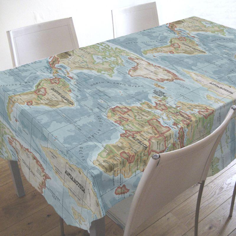 Hobbycraft Pvc Oilcloth Table Cover 2m Atlas Azure Hobbycraft