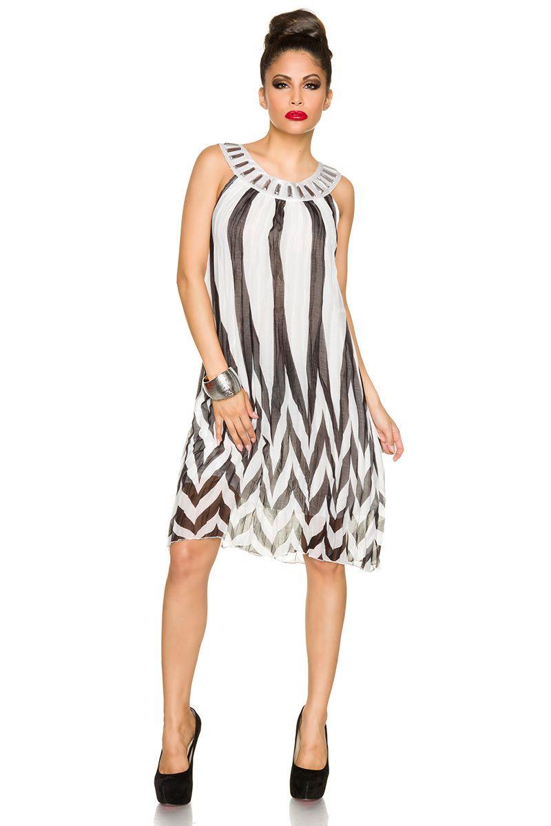 Strandkleid creme/schwarz | Sommerkleider | Kleider & Röcke ...