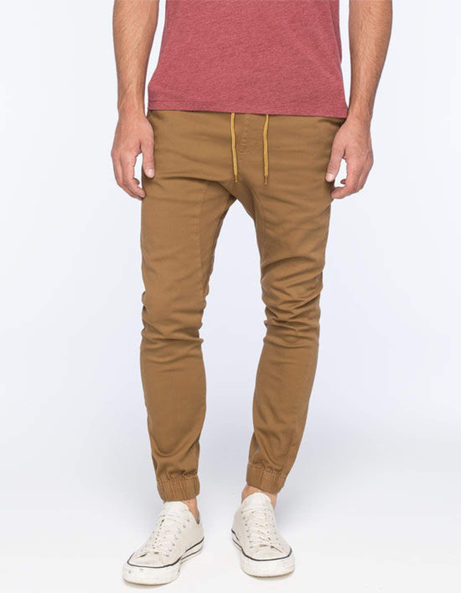 d7346ff1e754 Lira Weekend Mens Jogger Pants Khaki In Sizes   Style   Mens joggers ...