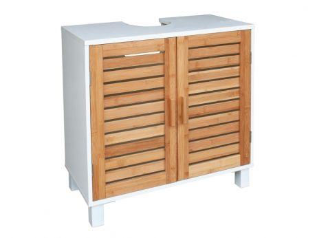 mueble bajo lavabo dune 60x30x60 cm blanco y madera - Badezimmermobel Ikea