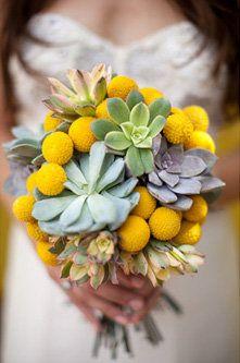 Craspedia/Succulent Bouquets