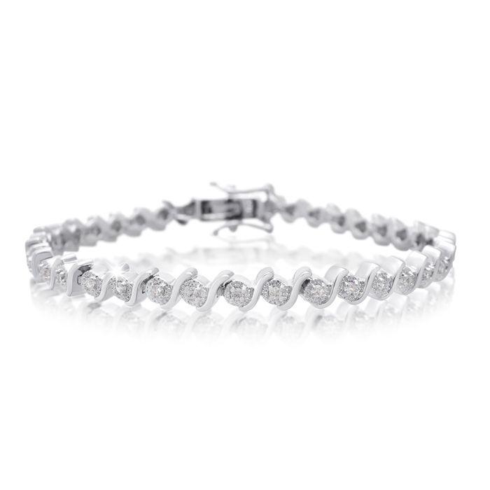 Tennis Bracelet Diamond Tennis Bracelet 40 Point Natural Diamond Bracelet Platinum Overlay 7 Inches Best Jewelry Deals Tennis Bracelet Diamond Vintage Bracelets Diamond