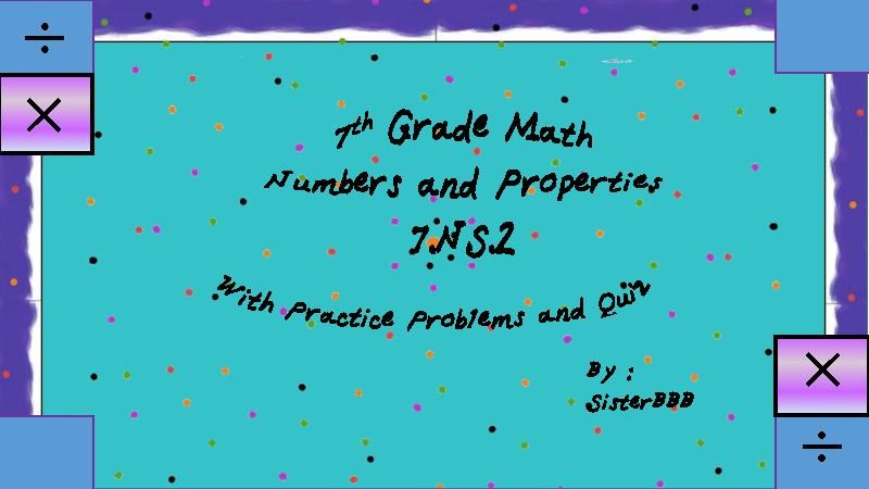 TeacherLingo.com $6.00 - Multiplying and Dividing Rational Numbers and Applying Math Properties