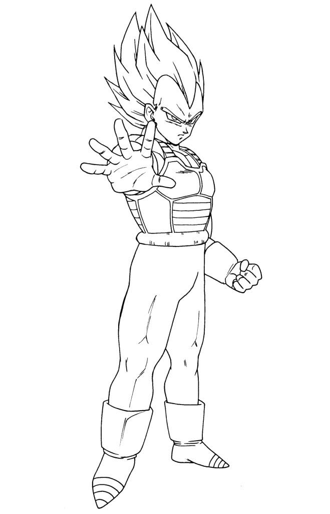 Dibujos Para Colorear De Dragon Ball Z Vegeta Para Colorear