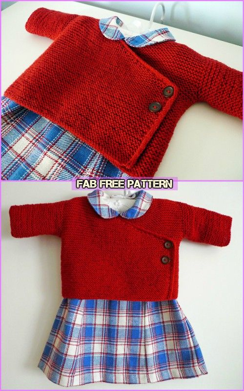 Easy Knit Baby Kimono Cardigan Free Patterns Knitting Pinterest