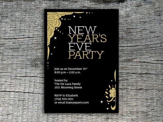 new year s eve party design invitation diy printables ringing in