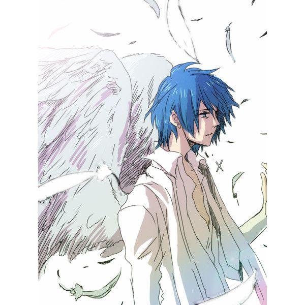 Safebooru Angel Wings Blue Eyes Blue Hair Feathers Himitsu Kuro