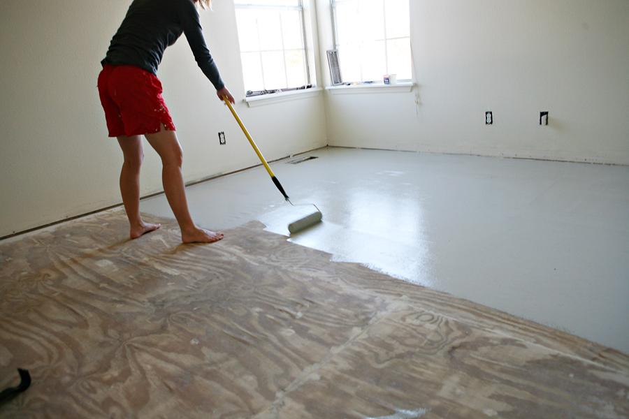 Epoxy Floor Coating Over Wood Subfloor Diy Flooring House Flooring Ripping Up Carpet
