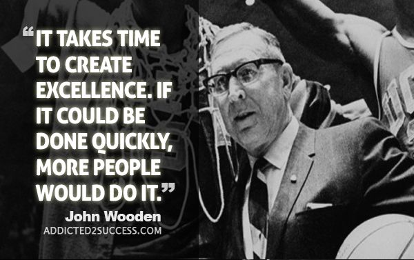 John Wooden Quotes Pleasing 100 Unforgettable John Wooden Quotes  Addicted 2 Success  Baseball