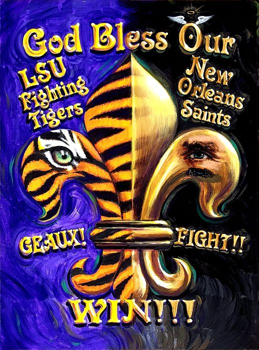 God Bless Our Tigers And Saints Tapestry for Sale by Mike Roberts