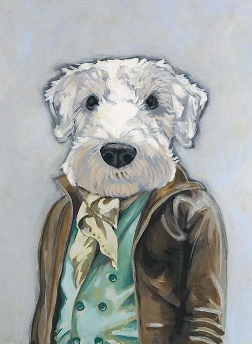 Framed Fine Art Print - Theo - Dogs In Clothes series by Heather Mattoon. $35.00, via Etsy.