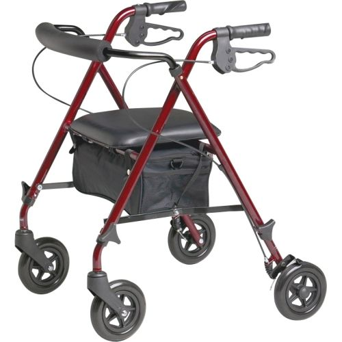 Pleasant Walker Medline Ultralight Rollator With Adjustable Seat Bralicious Painted Fabric Chair Ideas Braliciousco