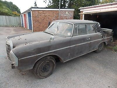 1964 B Mercedes W111 220 SE Fintail Auto Garage Barn Find Restoration Project