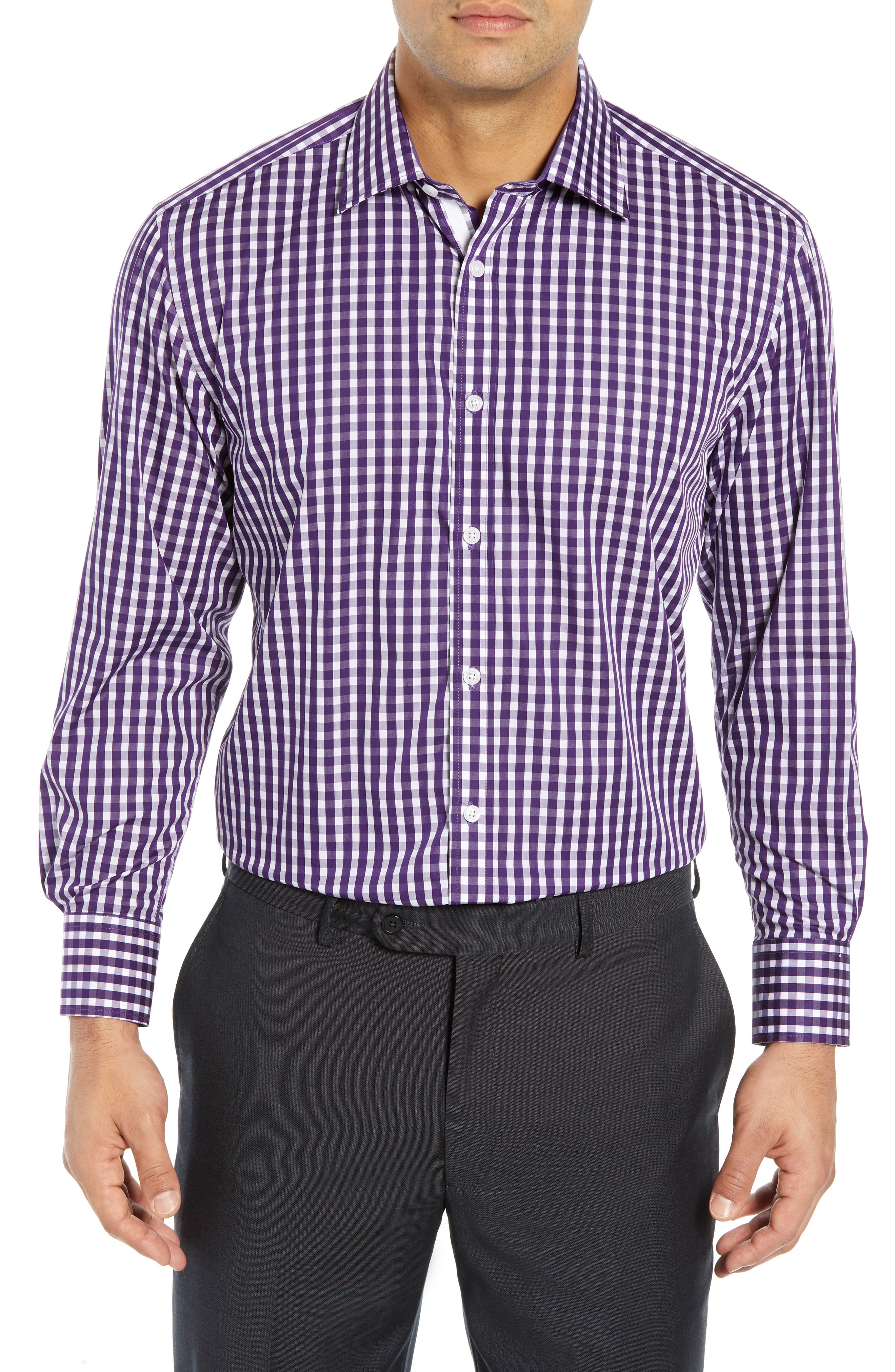 English Laundry Regular Fit Check Dress Shirt Shirt Dress