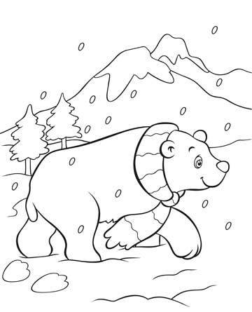 Polar Bear Coloring Page this free polar bear coloring page will