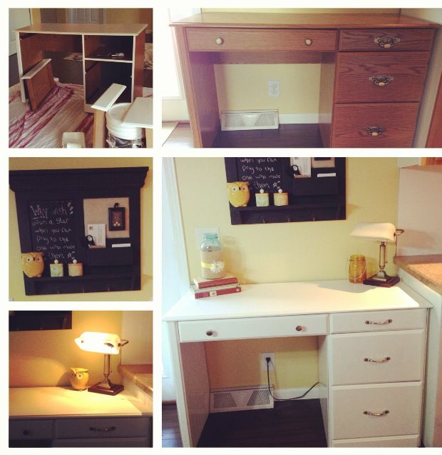 Upcycled Kitchen Cabinets: Upcycled Desk For 36.00 Painted It Added Knobs And Put