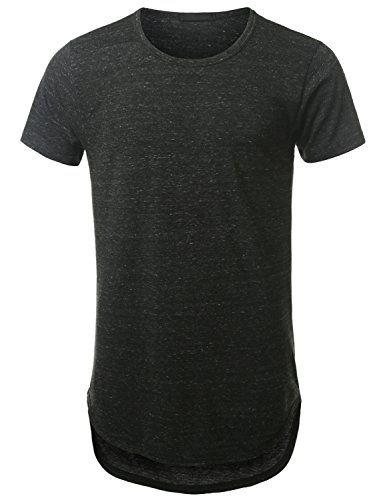 URBANCREWS Mens Hipster Hip Hop Lightweight Longline T-shirt CHARCOAL  MEDIUM URBANCREWS http   f86cef8a8