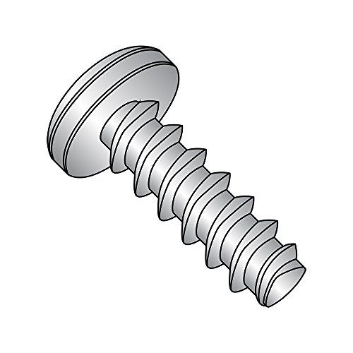 18-8 Stainless Steel Thread Rolling Screw for Plastic Pack of 25 Phillips Drive Pan Head Passivated Finish 1//2 Length 1//4-10 Thread Size