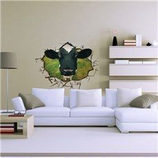 WALLIES COWS wall stickers 25 prepasted decals farm country barn kitchen decor