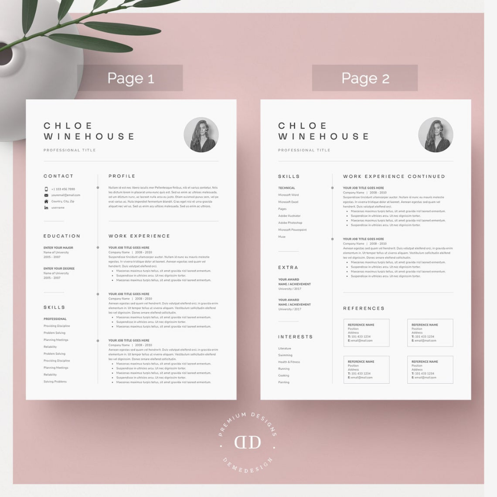 resume template resume template word resume with picture