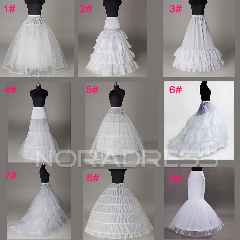 Petticoat for wedding dress  White Bridal Wedding Dress Prom Petticoat Underskirt Crinoline Skirt