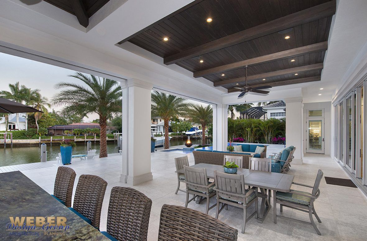 Transitional West Indies Style Lanai Pool Area West Indies Style House Plans With Photos Caribbean Homes