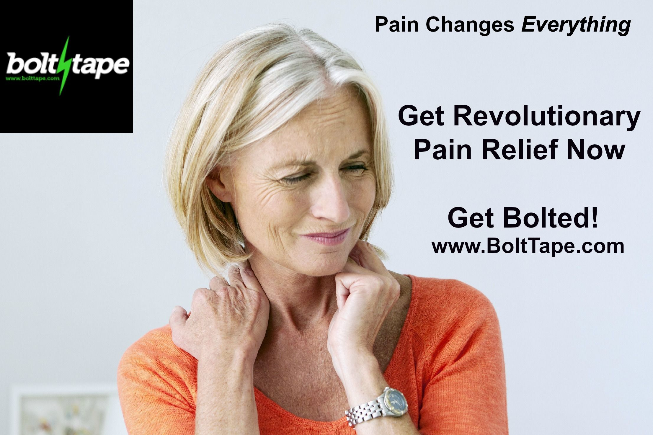 Bolt Tape is the first and only sports tape to combine the benefits of tape with an all natural energy solution for revolutionary, drug-free pain relief and increased muscle mobility.    Each Bolt Tape strip provides effective relief for acute and mild to moderate pain associated with muscle strains, inflammation, arthritis, headaches and other injury/illness symptoms.