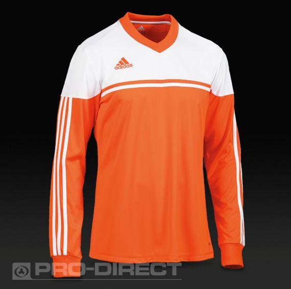 b7d9498d adidas Autheno 12 LS Football Shirt - Orange/White   Boys activewear ...