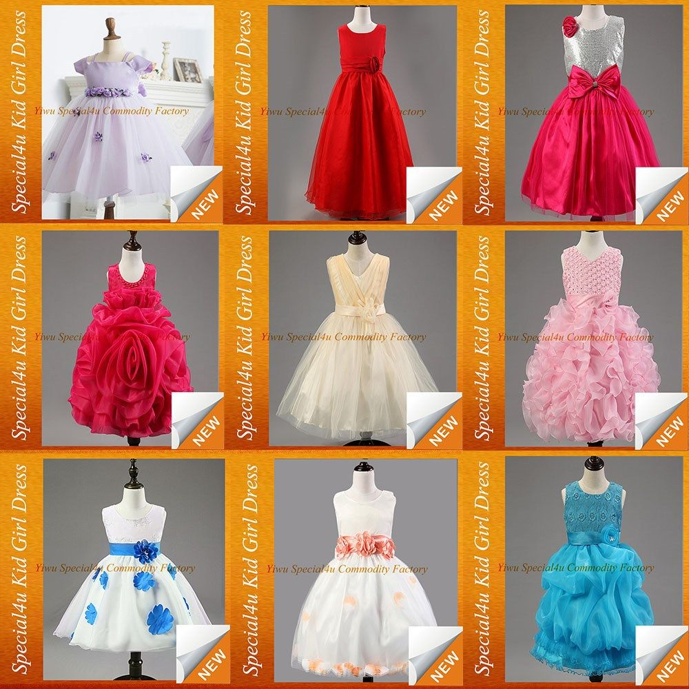 d343b47da7bc1 Flower children baby girl birthday dresses frock in summer party dresses  for 8 years old girls SFUBD-081