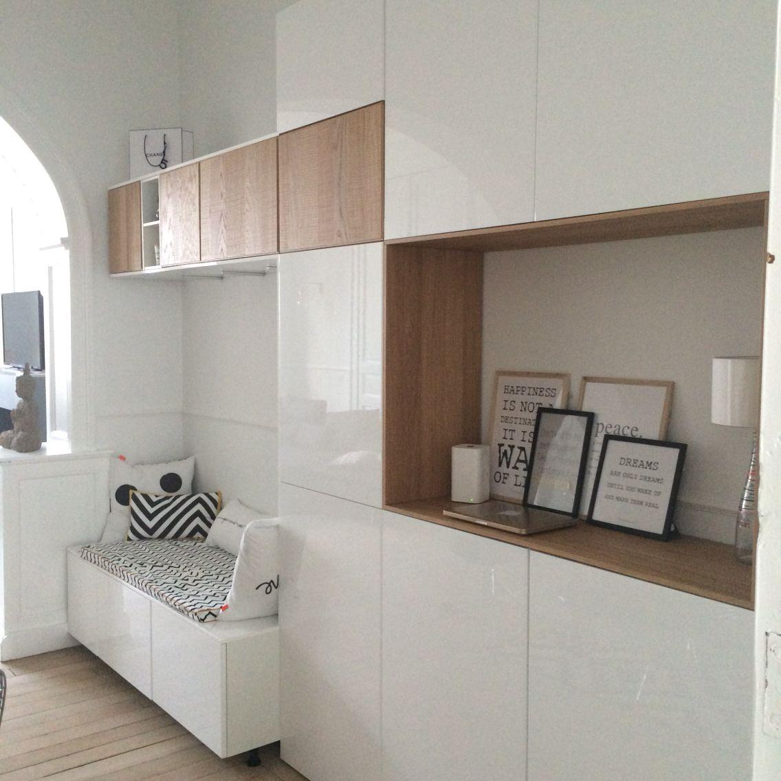 Home hall design-ideen meubles ikea  method idée rangement pièce à vivre du studio