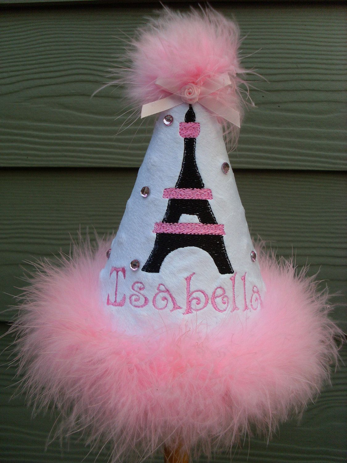 Custom Party HatsBLACK And PINK PARIS Theme Hat Any Colorany ThemeBirthday Hatdress Up Princess 2600 Via Etsy