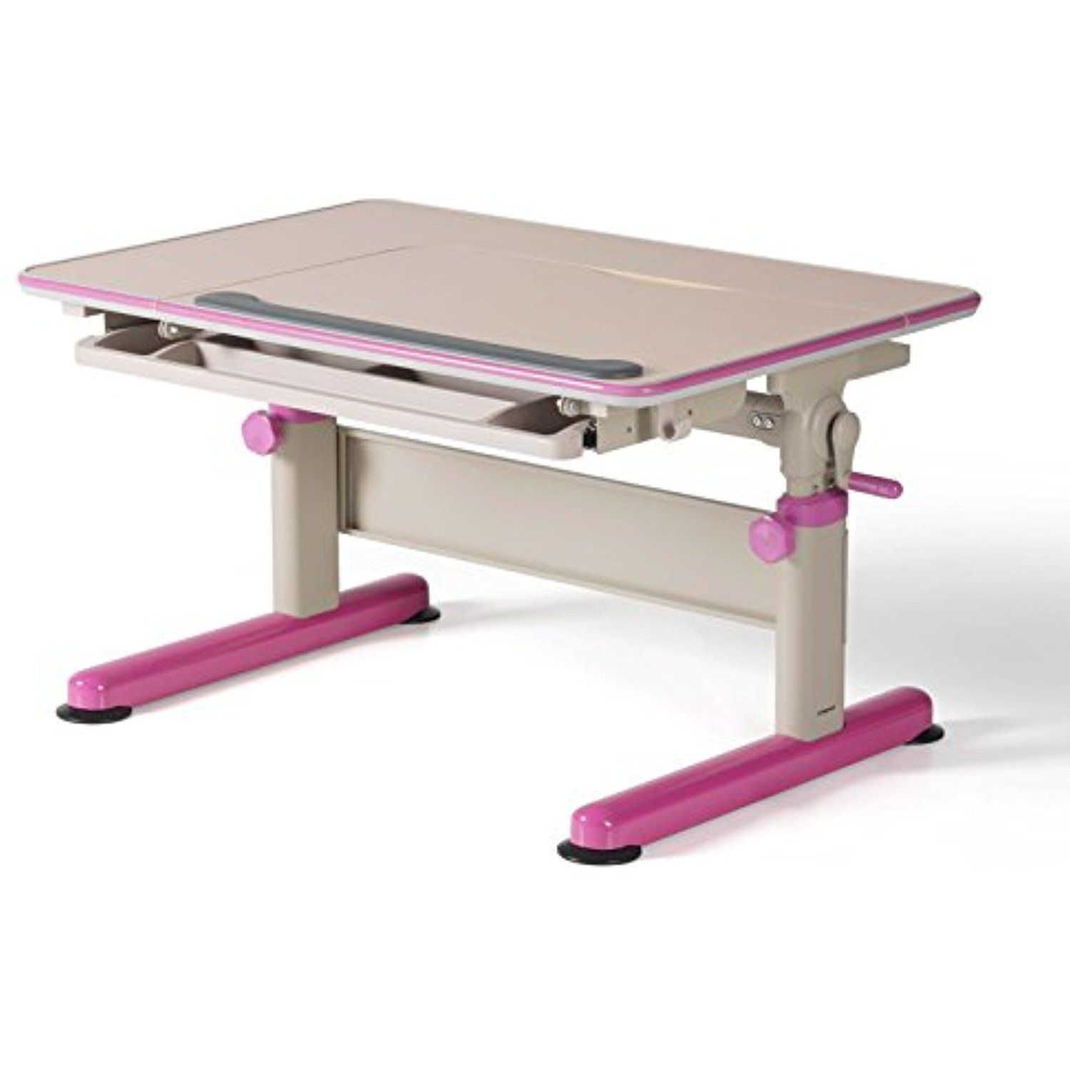 Height Adjustable Children Study Desk Stainless Steel Frame with