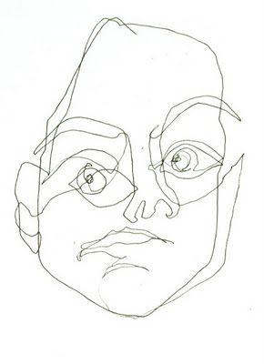 Blind contour portrait into the art classroom - Dessin contour ...