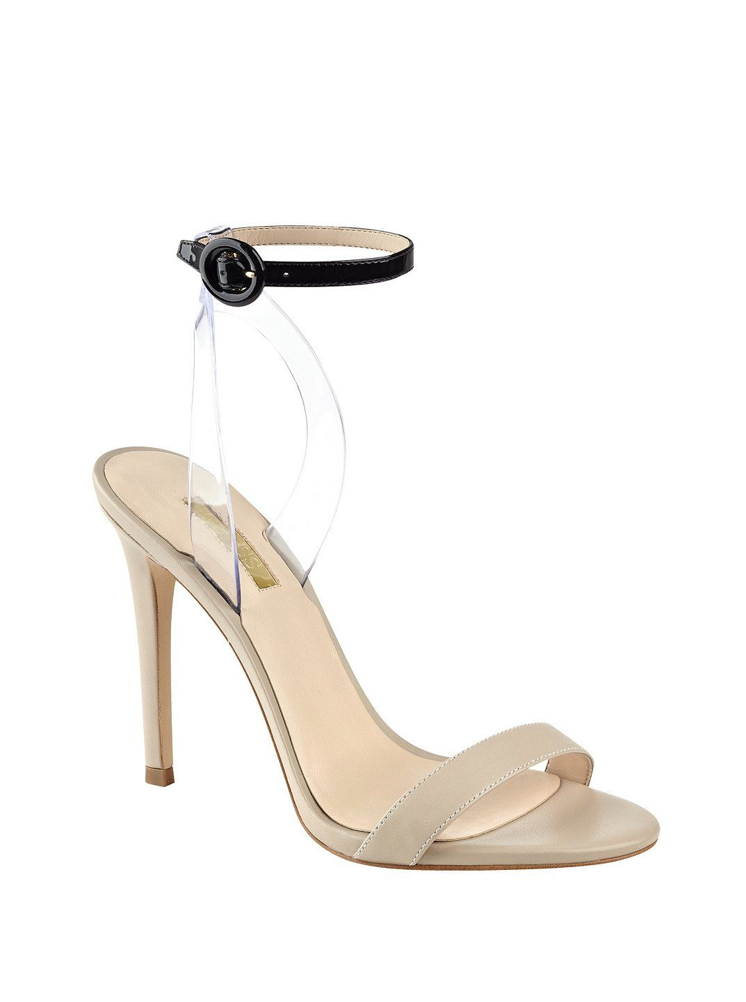 Emorie Clear-Strap Heels at Guess