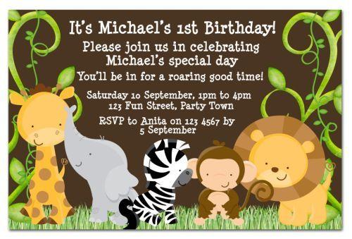 cool safari birthday invitations ideas free printable invitation