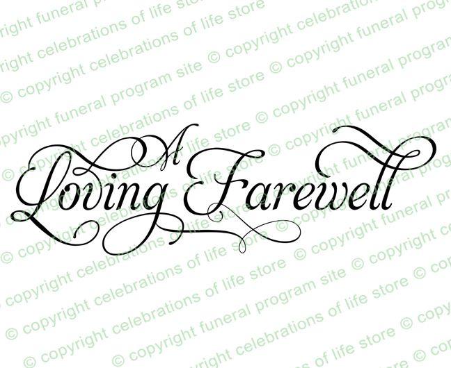 Program Titles : A Loving Farewell (2) Elegant Title