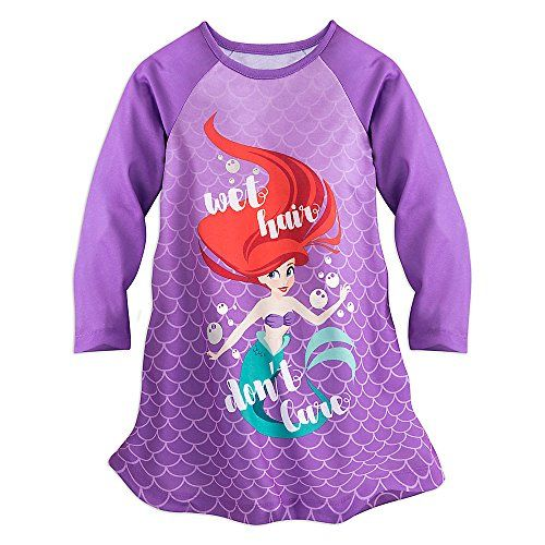 1f56806501 Disney Girls Ariel Nightshirt 5 6 Purple Disney https   www.amazon