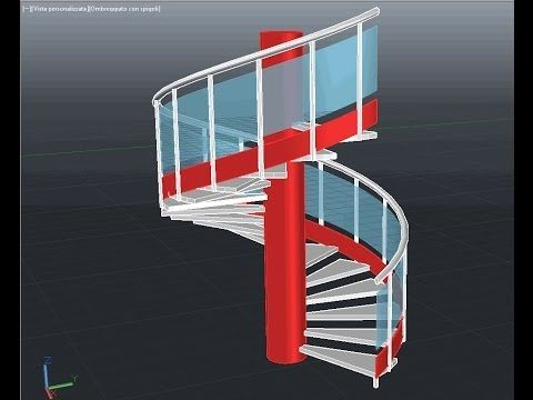 Best Spiral Staircase 3D With Handrail Rail And Posts In A Few 400 x 300