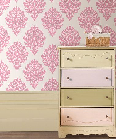 Loving this Patchwork Daisy Dots Wall Decal Set on #zulily!  I like the dresser
