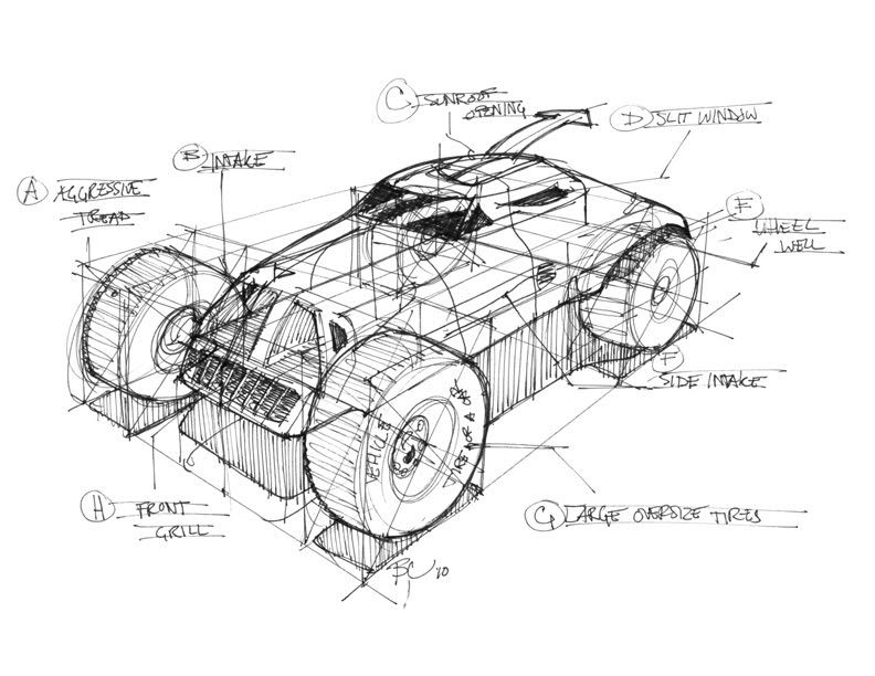 Sketch A Day Sketch A Day 96 Car Construction Lines Sketch A Day Spaceship Drawing Sketch Design