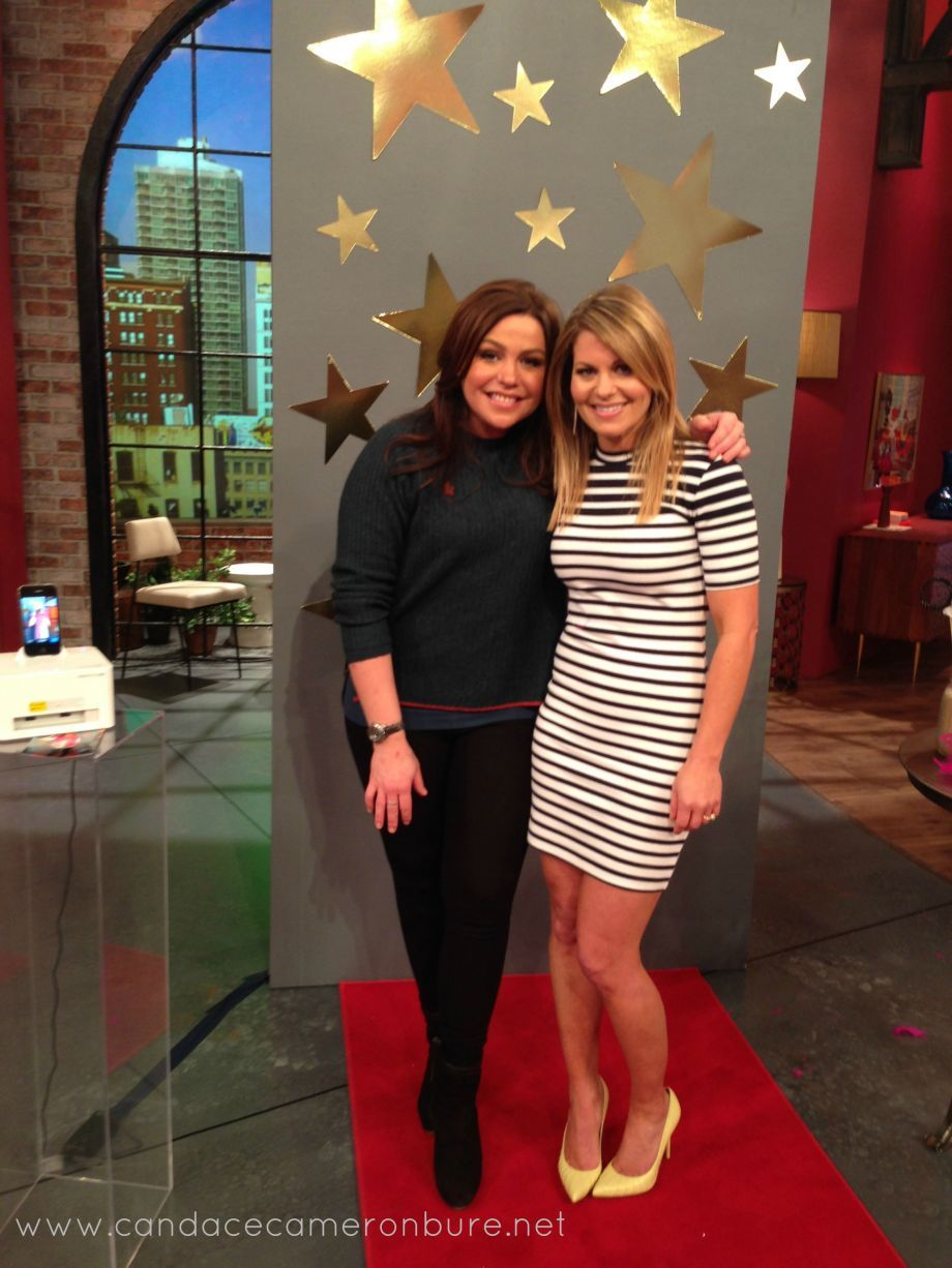 Rachel Ray Show Dress Alexander Shoes Stuart Weitzman Candace Cameron Bure