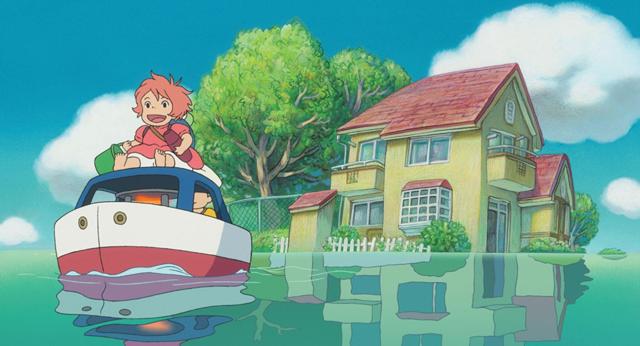 Ponyo Computer Wallpapers Desktop Backgrounds 2133x1154 Id 420284 Studio Ghibli Movies Ponyo Studio Ghibli