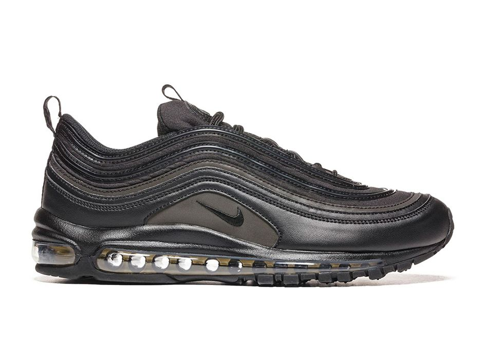 The Nike Air Max 97 Triple Black (Style Code: will release at select shops  later this year featuring touches of Gold on the visible air.