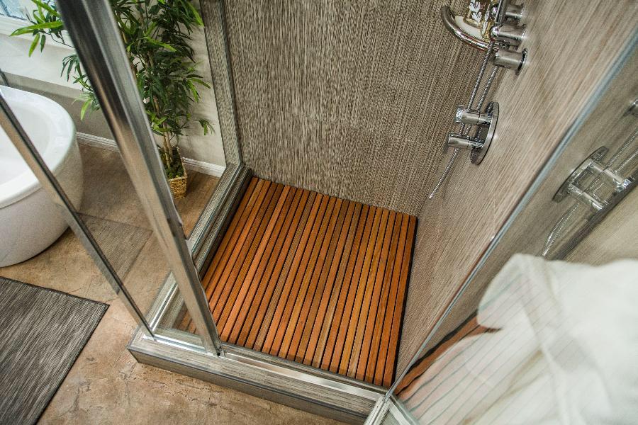 Diy Wooden Slat Shower Floor Teak Shower Floor Shower Floor Teak Shower