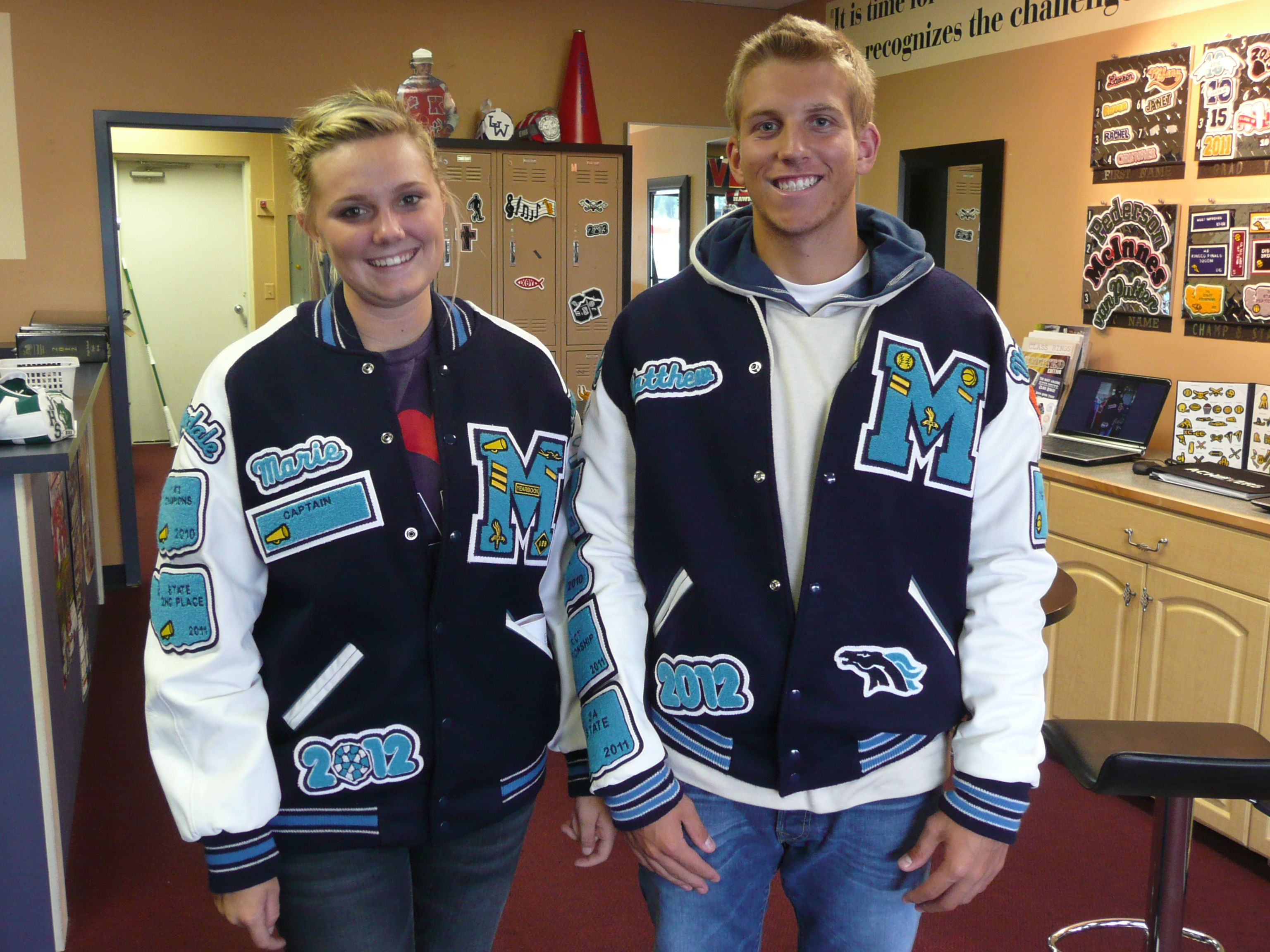 varsity letter jackets meadowdale mavericks